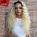 Ombre Blonde Human Hair Full Lace Wig Brazilian 100 Virgin Hair 1bT 60 Platinum Blonde Lace