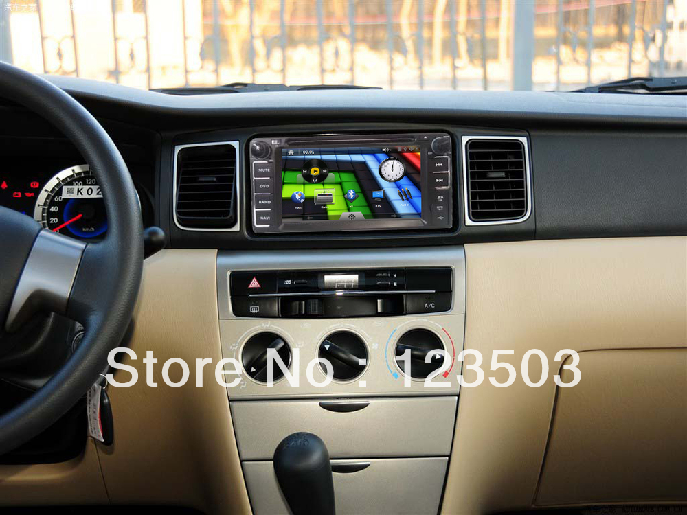New Toyota Corolla EX 6.2 Inch In Dash Car DVD with GPS Analog TV Ipod playing Bluetooth Wheel control RDS AUX USB SD etc(China (Mainland))