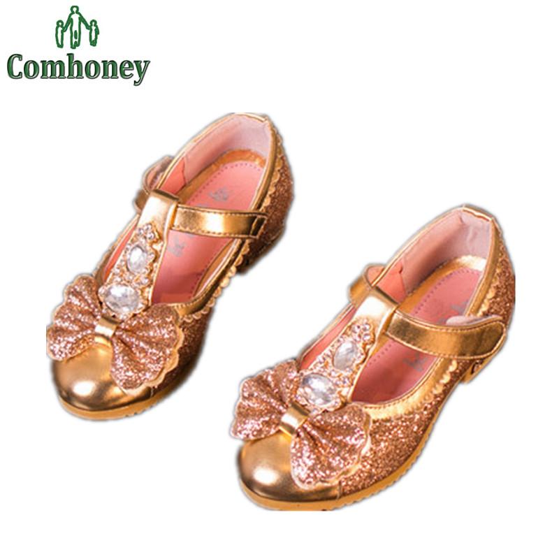 Princess Toddler Girls High Heel Sandals Glitter Dance Shoes For Girls Pumps Children Sandals For Girls Kids Wedding Party Shoes(China (Mainland))