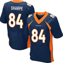 Men's #84 Shannon Sharpe Elite Navy Blue Alternate Football Jersey %100 Stitched(China (Mainland))