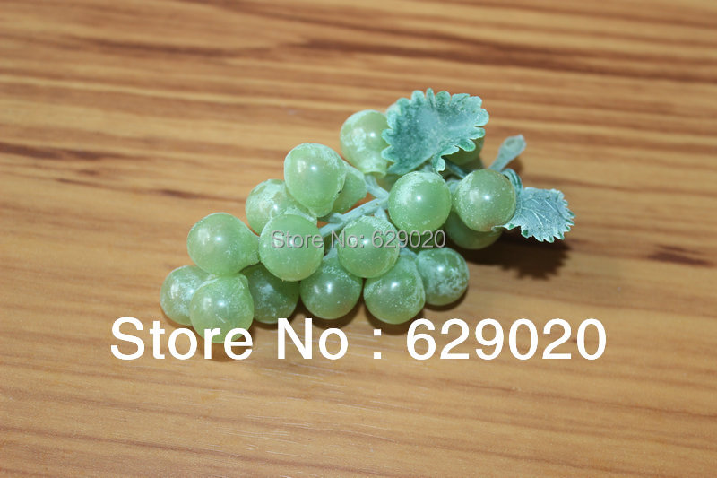 5 bunches Green artificial fruit faux mini grape fake food kitchen office home party decor choose - gunzi feng's store
