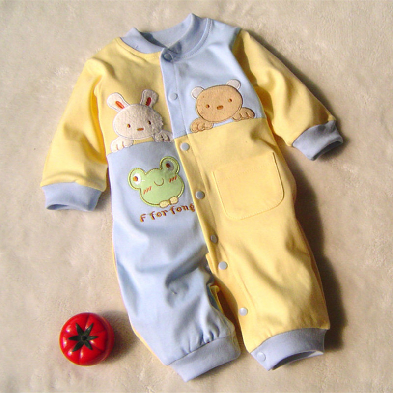 Baby Rompers Bebe 100%Cotton Carters Baby Boy Girl Clothes Long Sleeve Jumpsuit Baby Winter Clothing Baby Costume Product R-03(China (Mainland))