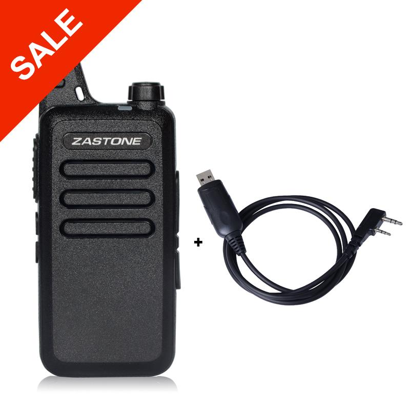 Zastone ZT-X6 Professional Long Range Walkie Talkies Mini UHF Handheld Radios Portable Two Way Ham Radio + Programming Cable(China (Mainland))
