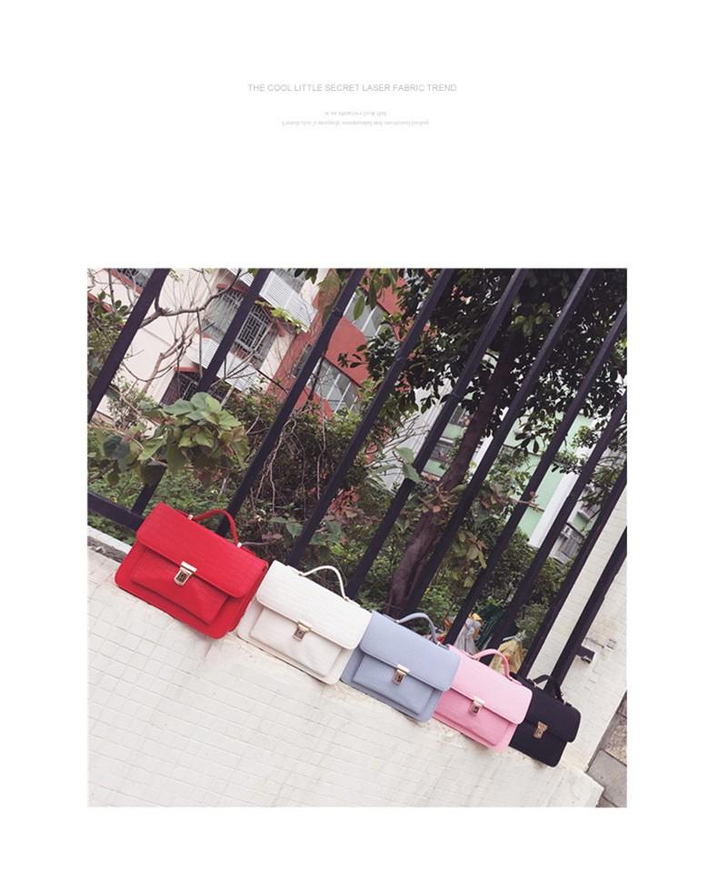 Fashion MINI Chain Bag Women 2016 New Korean Style Cheap Shoulder Bag Crocodile-print Flap Push Lock Bag Ladies Small Crossbody