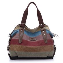 2016 Fashion Leisure Women's Travel Canvas Handbags High Quality Shoulder Bags Designer Totes Casual Messenger Large Bag