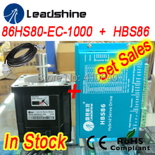 Buy Set sales Leadshine Hybrid Servo Motor 86HS80-EC8.0 NM NEMA 34 HBS86 drive 24-70 VDC input encoder extension cable for $358.70 in AliExpress store