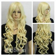 Hat Resista nt Cosplay party TJ***** New ladies Sexy Long Curly Blonde Hair Wigs - jewe store
