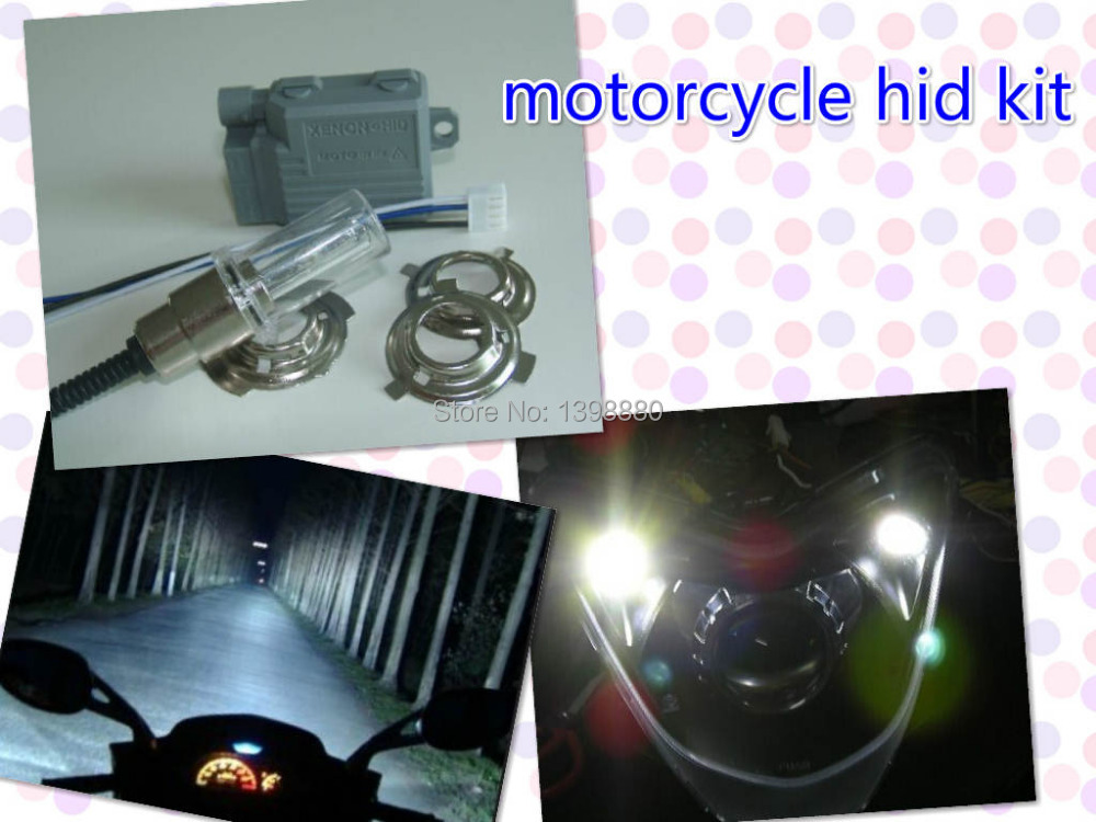 12V 35W 4300K Good quality mini Motor/Motorcycle Bike Hid Lights Kit H6 Hi/Low Xenon Bulbs Headlamp Free shipping(China (Mainland))