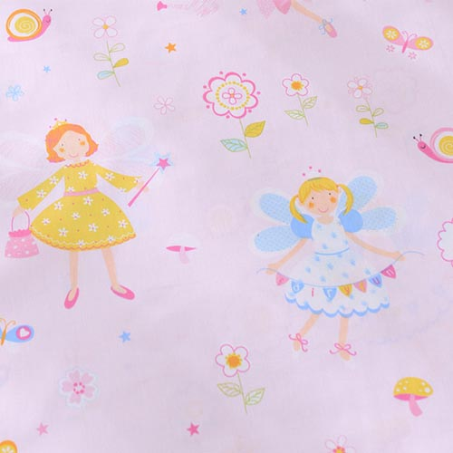 1 meter 100% Cotton fresh pink the floral angel Fabrics DIY For home decor kids Quilting doll clothes tilda chic cloths(China (Mainland))
