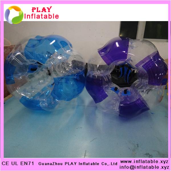PVC human inflatable bubble ball mini plastic soccer balls play bubble football(China (Mainland))