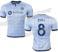 2015-16 SPORTING KANSAS CITY KC camisas de futebol em BESLER DWYER FEILHABER ZUSI Blue Soccer Jersey(China (Mainland))