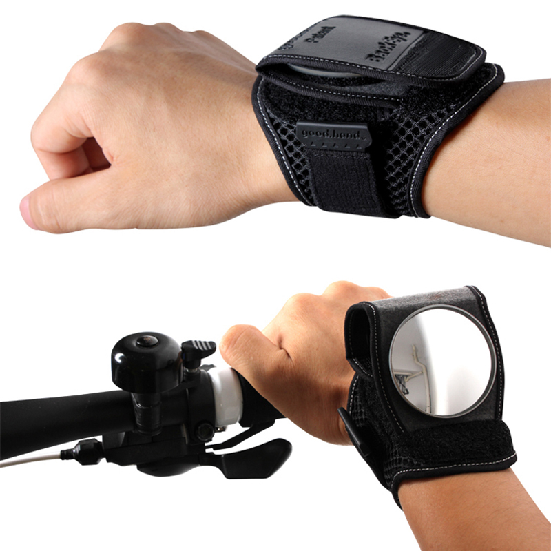 Riding bicycle rear view mirror wristband wrist support reflective mirror Good . hand cycling ...