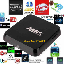 M8S Android 4.4 Smart TV Box 2.0 GHz. Amlogic S812 Quad Core 8GB EMMC With Remote Controller Fully High Quality Free Shipping