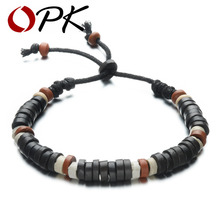 OPK Handmade Charm Clay Bracelets Fashion Clay/Ceramic Beads Adjustable Woman Man Bracelet Vintage Jewelry For Women Men BS002(China (Mainland))