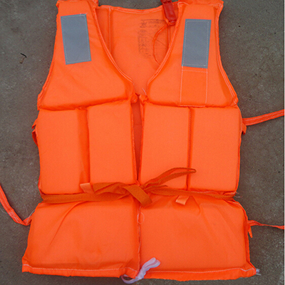 Adult Foam Life Jacket Vest Flotation Device with Survival Whistle Prevention Flood Fishing Rafting Drift Sawanobori Orange(China (Mainland))