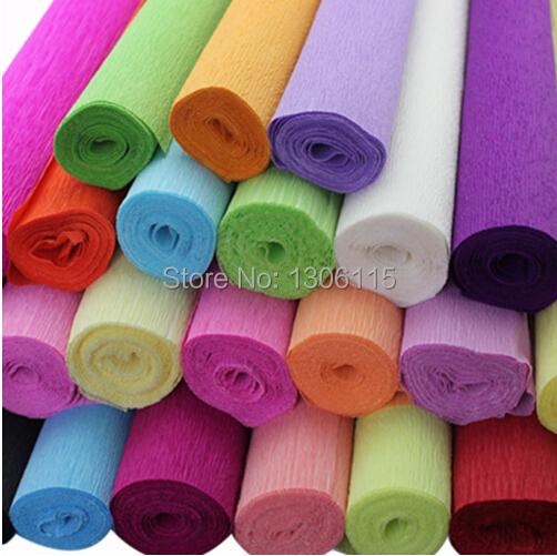 Envío gratis 250 * 50 cm / Roll DIY flor / regalos decoración embalaje embalaje Crepe papeles, materiales hechos a mano de arrugado papel(China (Mainland))