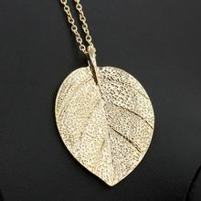 Buy 20Pcs/lot Fashion Gold Leaf Pendant Necklace Jewelry Women Lady Gold Chain Leaves Long Sweater Necklace Jewelry Nice Gift for $16.52 in AliExpress store