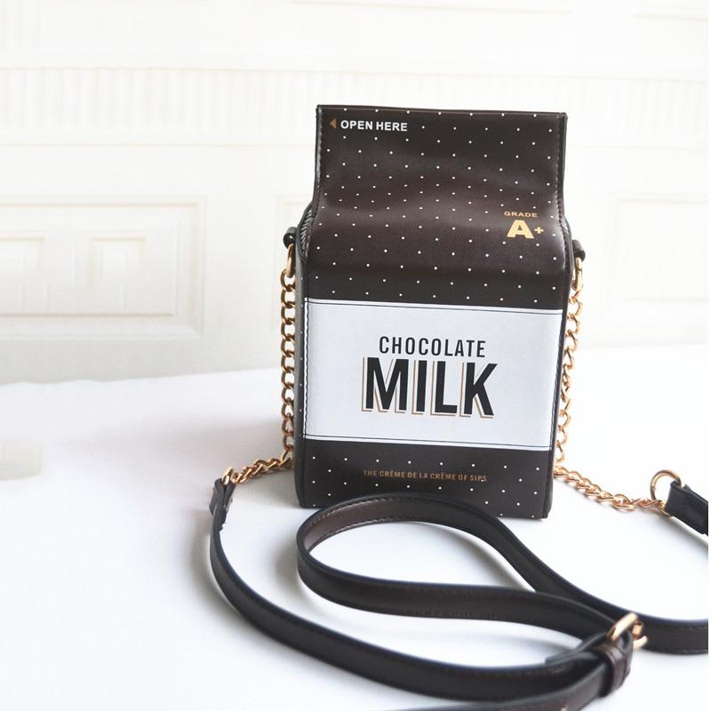 2016 European Summer Fashion Chocolate Milk Trunk Shoulder Bag Ladies Chain Small Box Bag Brand Designer Messenger Bag Bolsa(China (Mainland))