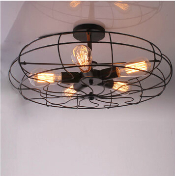 Loft RH style dining room decoration black fan ceiling lamp coffee shop art light bar light D540*H260MM free shipping(China (Mainland))