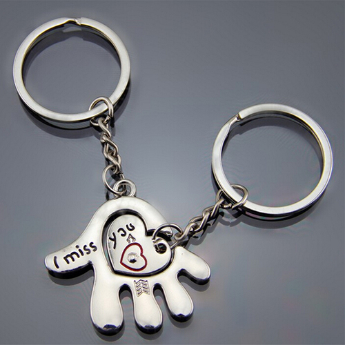 Couple Hand Palm Heart Keychain Ring Keyring Key Chain Lover Birthday Gift <br><br>Aliexpress