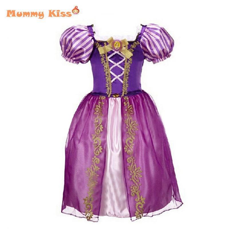 2015 New Girls Cinderella Dresses Children Snow White Princess Dresses Rapunzel Aurora Kids Party Halloween Costume Clothes k20(China (Mainland))