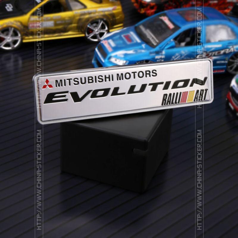 ETIE Factory Direct Wholesale Car-styling Car Sticker Design Mitsubishi Motors Evolution Auto Parts Vinyl Sticker Car Emblem(China (Mainland))