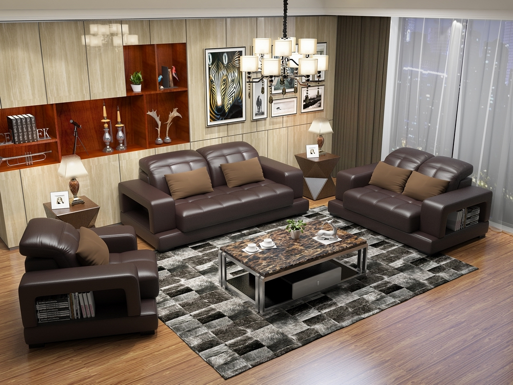 Popular american leather couches buy cheap american for Sofas piel modernos