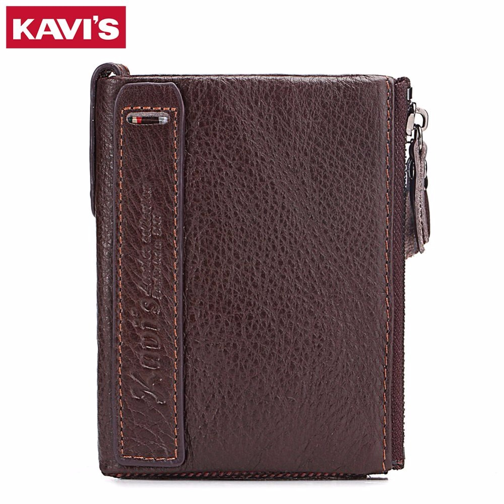 KAVIS 2017 New Band Wallet For Men Genuine Leather Fashion Male Purse Credit Card holder With Coin Pocket Small Hasp Men's Walet(China (Mainland))