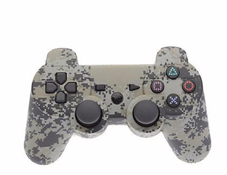 NEW Double shock Wireless Bluetooth Camouflage SIXAXIS Game Controller Joysticks Gamepads for PC/Sony PS3 Playstation 3 PS3 Slim(China (Mainland))