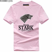 Buy Funny Game Thrones T Shirt 2017 House Stark Winter Coming print tee shirt homme summer harajuku top crossfit brand tops pp for $5.77 in AliExpress store