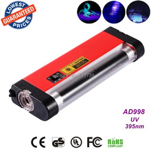 AloneFire AD998 portable ultra violet flashlight for cat urine detector uv light money detector with torch(China (Mainland))
