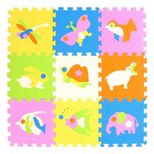 Mei Qi Keren 9 Buah/Set Bayi Bermain EVA Busa Puzzle Tikar/Kartun Eva Busa Pad/Interlocking Tikar untuk anak-anak Playmat(China)