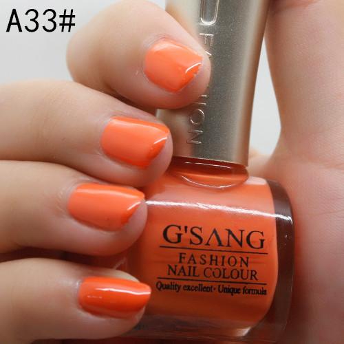 wholesale 48pcs china gsang brand glaze sweet orange color nail lacquer polish bulk free shipping nail art varnish enamel polish(China (Mainland))