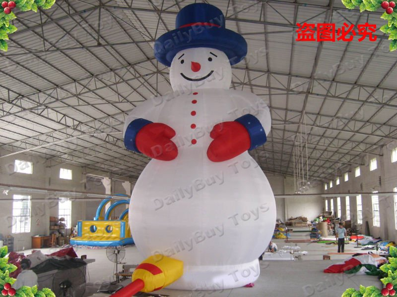DAD01 8mH 26ft Christmas Inflatable Snow man + Repair Kits + Blower Inflatable Christmas Decoration Factory price(China (Mainland))