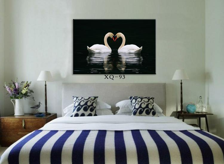 Modern Bedroom Wall Painting Wall Picture Home Decorative Bedside Romantic  Paintings Canvas Swan Lovers Hot Sell. Wall Paintings Design  wall paint ideas for living room image