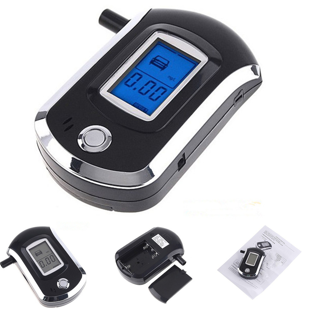 Digital alcohol tester with blue backlight Prefessional Police Digital Breath Alcohol Tester Breathalyzer(China (Mainland))