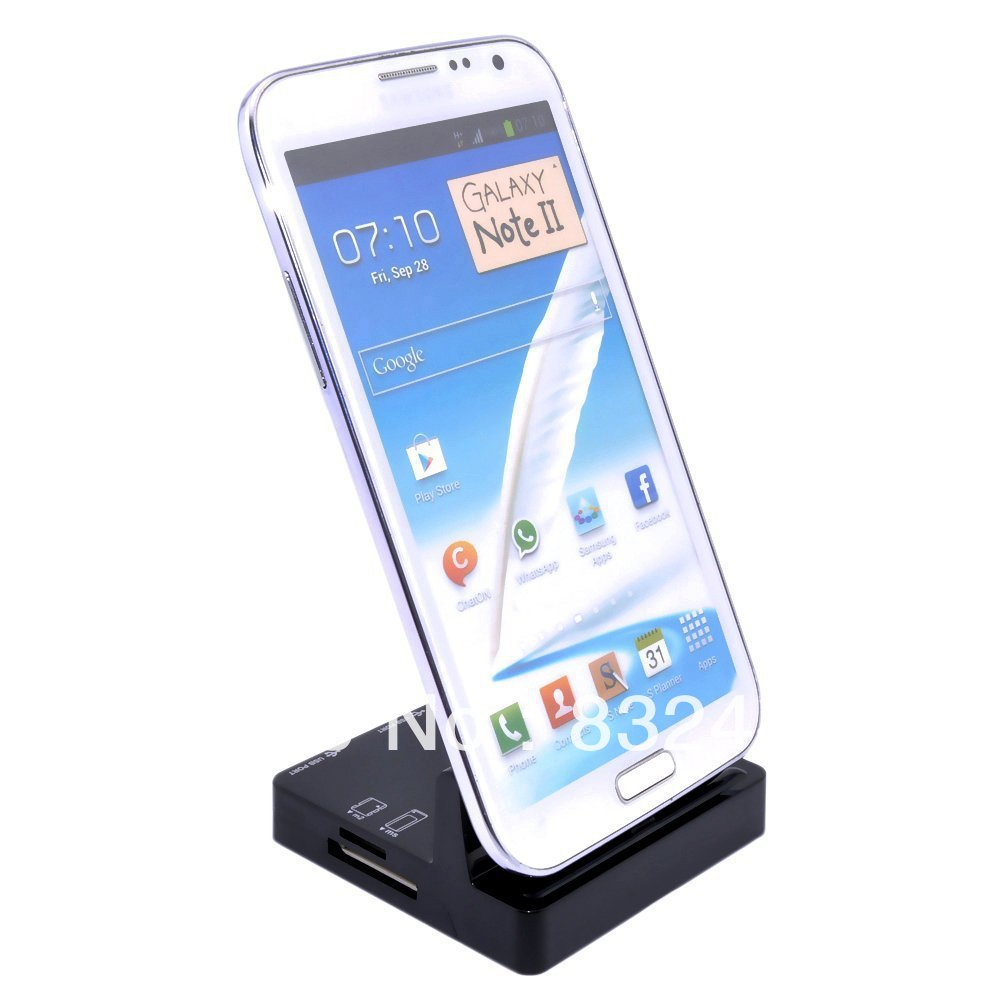 AliFamily Black Sync Cradle USB Dock Charger Card Reader Samsung Galaxy S3 SIII S4 SIV NOTE 2 - store