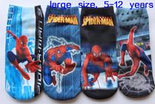 12pair/lot baby boys girls sock minnie superman kids sock 2015 New Summer cartoon spiderman baby socks Children's socks(China (Mainland))