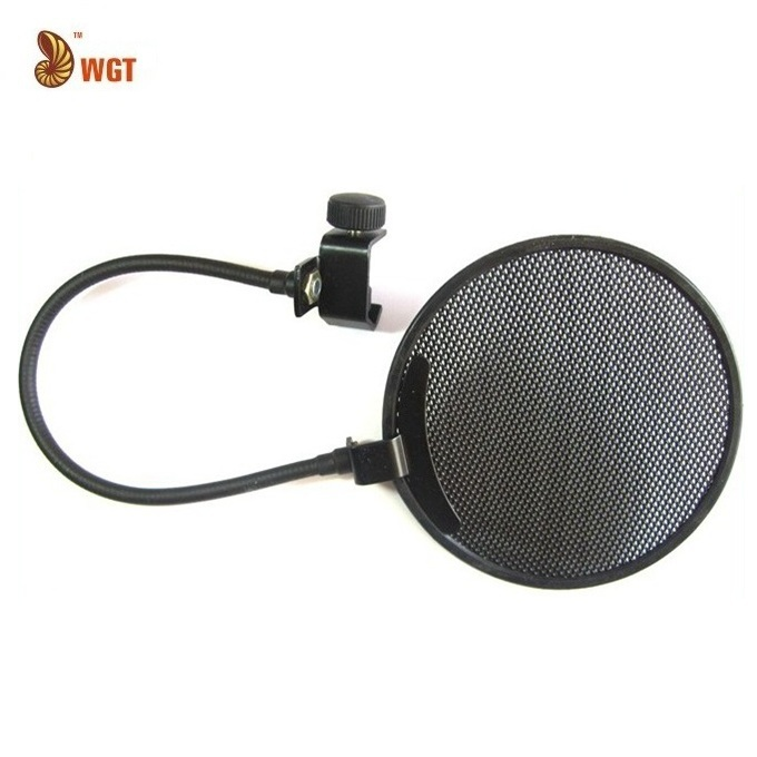 "Professional Pop Filter Microphone Wind Screen Shield Gooseneck Metal Round 5.5"" Gooseneck Mask Wholesale New Hot Sales(China (Mainland))"