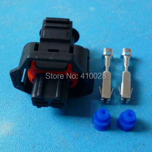 100sets waterproof 2 pin For the Bosch diesel common rail injector pin connector with terminal DJB7029Y-3.5-21(China (Mainland))