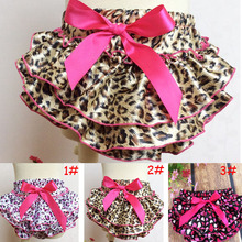 Fashion Leopard BABY GIRL Ruffled Bloomers for Summer Infant Baby Summer Clothing Shorts Girl PP Pants PP Skirts 1pc TZ-15007(China (Mainland))