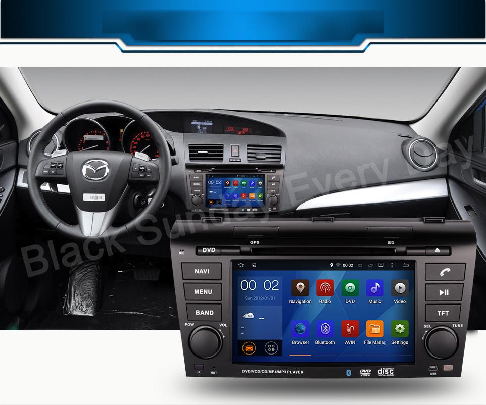 ROM 16G 1024*600 Quad Core Android 5.1.1 Fit MAZDA 3 MAZDA3 2004 - 2006 2007 2008 2009 Car DVD Player Navigation GPS TV 3G Radio(China (Mainland))