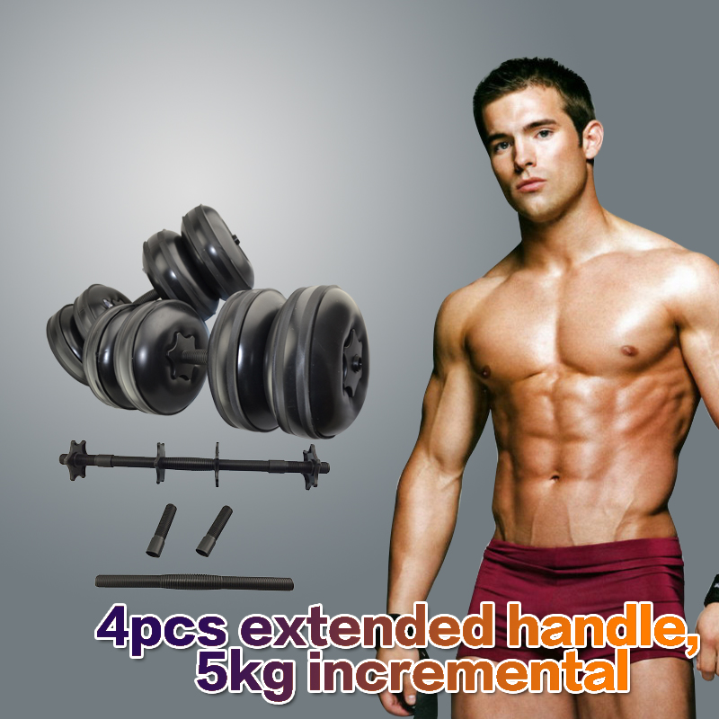 2016 Newest High Quality Adjustable Dumbbell Sets Water Filled Barbells Eco-friendly Crossfit Equipment for Weight Loss(China (Mainland))