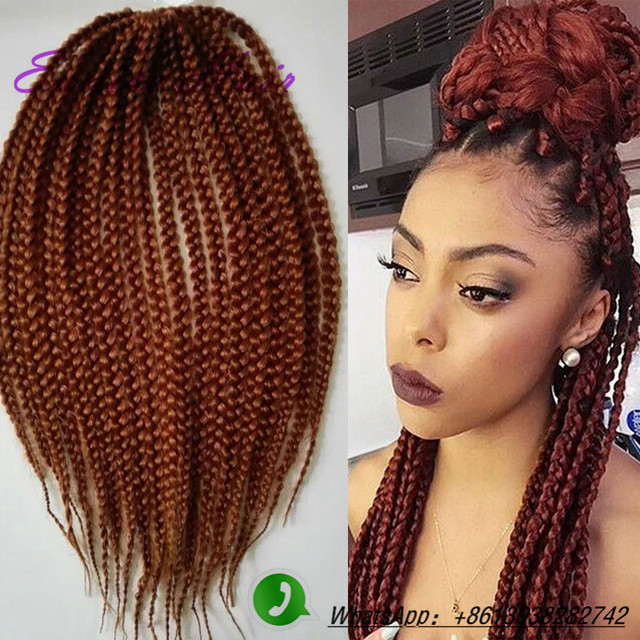 Crochet Box Braids Individual : Box Braids Hair 18inch Synthetic Kanekalon Braiding Havana Crochet ...