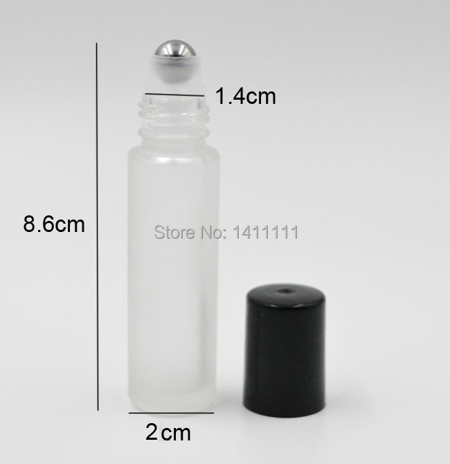 700pcs Refillable 10ml ROLL ON Frosted GLASS BOTTLE ESSENTIAL OIL Metal Roller ball fragrance PERFUME by DHL/Fedex Free Ship(China (Mainland))