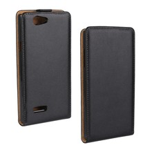 For ZTE Blade 2 Case Black Classic Flip Real Leather Cover Case For ZTE Blade 2/ L2 Protective Shell Phone Bag
