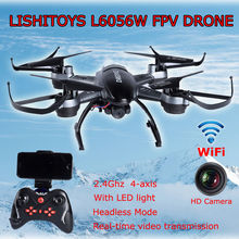 Free shipping!Lishitoys L6056C Headless Helicopter 2.4G 4Axis RC Quadcopter Drone w/2MP Camera