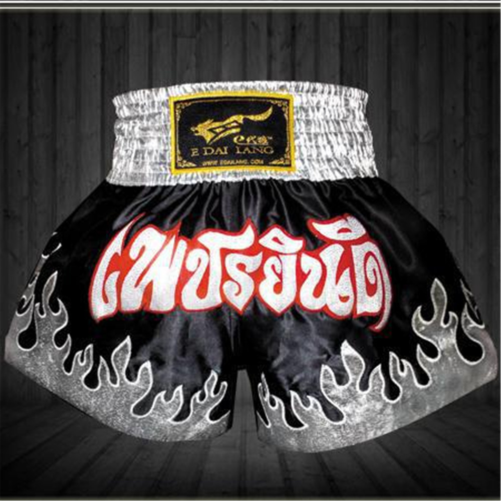 2015 New Brand Boxing Shorts Trunks Mens Sports Clothes Fighting Competition Muay Thai Sanda Fighting Shorts Top Quality(China (Mainland))