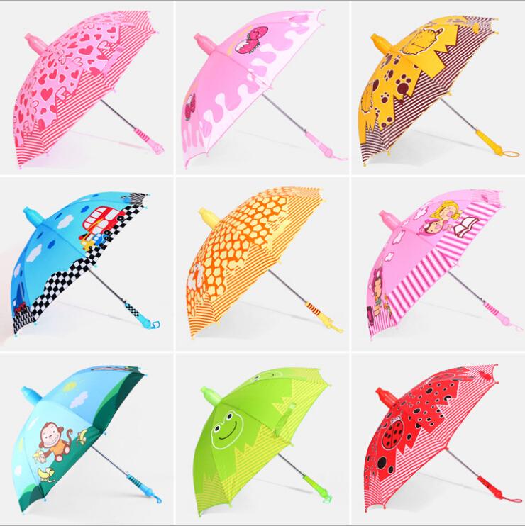Pupils Baby Cartoon Umbrella long-handled Automatic children Umbrella Unique Good Quality Fresh Color Kids Protectors Rain Cover(China (Mainland))