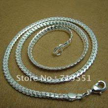 CN15 5MM Men Cabe Chain Necklace Promotion Sale Men Jewelry Free Shipping High Quality 925 Silver